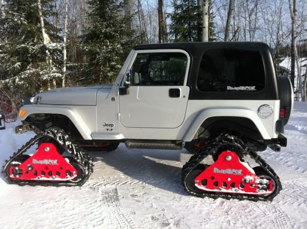 Powertrack, jeep 4x4 sur chenille,truck sur chenille, chenille rubber,kit convertion pour jeep suv (6)